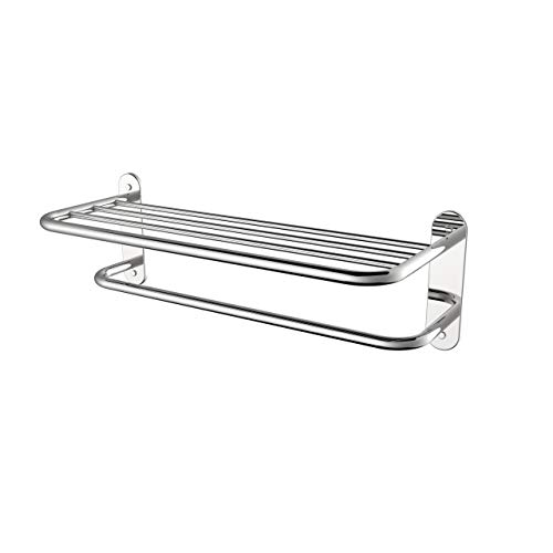 Fixsen 18 Inch Bathroom Towel Rack Towel Bar Towel Shelf Chrome Stainless Steel and Zinc Alloy Wall Mount 1pc for House Lavatory and Hotel…