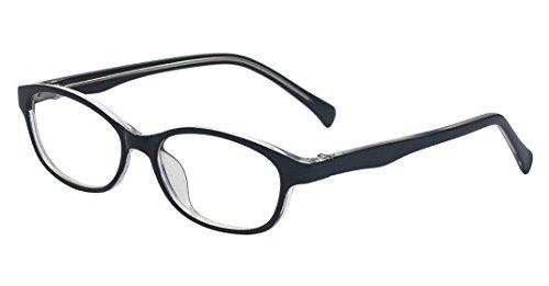 Outray Kinderbrille mit ovalem optischem Rahmen, für Mädchen und Jungen, mit klaren Gläsern, 2182c1, Schwarz, 2182c1
