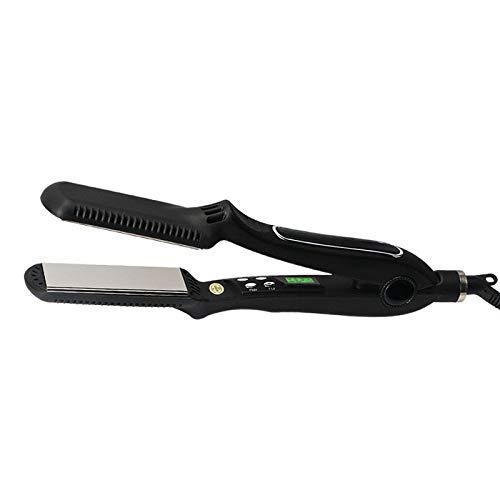 Alisador de pelo permanente no daña el termostato 3D Férula flotante negro