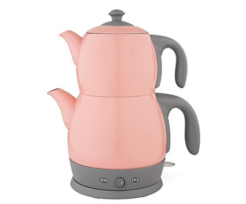 King Edelstahl Teemaschine Teemaker Wasserkocher Lea P315M 2 in 1 – Tee und Wasserkocher (Rosa)