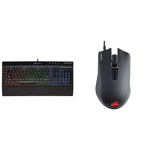 Corsair K55 RGB Gaming Keyboard + Corsair Harpoon PRO - RGB Gaming Mouse