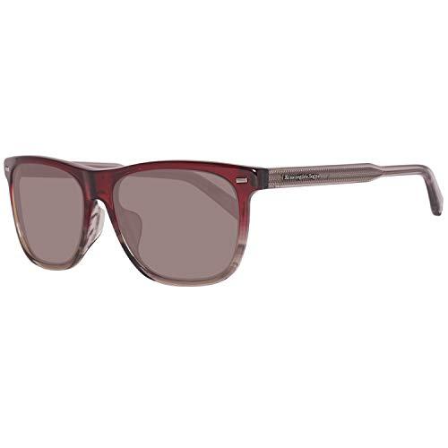 Ermenegildo Zegna Sonnenbrille EZ0041-F Occhiali da Sole, Rosso (Rot), 57.0 Uomo