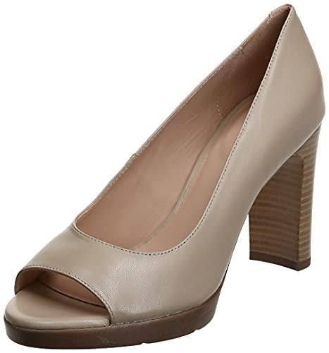 Geox D ANNYA High Sandal, Zapatos con Tacón y Punta Abierta Mujer, Beige (Beige C5000), 41 EU