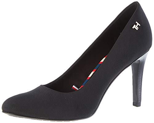 Tommy Hilfiger Damen Essential Textile Pump Pumps, Schwarz (Black Bds), 40 EU