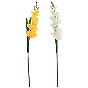 Taotenish 2PCS Artificial Gladiolus Flower Stem for Indoor Outdoor Wedding Home Office Decoration – Style 5