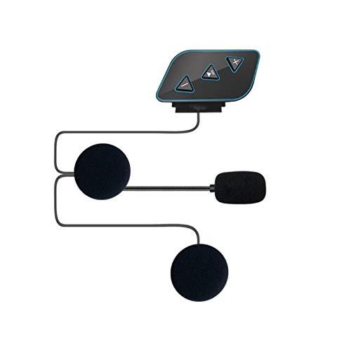 linger Bluetooth 5.0 Moto Casco Auriculares Inalámbrico Manos Libres Teléfono Estéreo Estéreo Casco de Motocicleta Altavoz de Auriculares Admite Chargin (Color : 01)