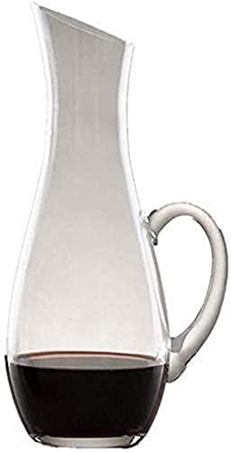 Decantadores Gafas de cóctel, Decantador de whisky Decantador de vinos de cristal - 100% Libra sin plomo Mango de inclinación de cristal CHARAFE CAJA DE VINO MANO MANO VINO DE VINO DE VINO CARAFE WHIS