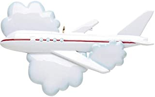 Personalized Flying Christmas Tree Ornament 2019 - Airplane Clouds Flight Cockpit Captain Aviation Cabin Crew Hostess Way Trip Craft First Vacation Honeymoon Tradition Year - Free Customization