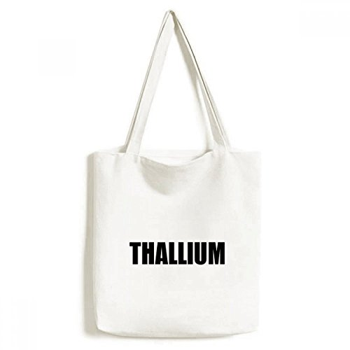 DIYthinker Thallium Element Namen Chemie Umwelt-Tasche Einkaufstasche Kunst Waschbar 33cm x 40 cm (13 Zoll x 16 Zoll) Mehrfarbig