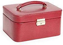 Bey-Berk Women's Lizard Embossed Jewelry Travel Box