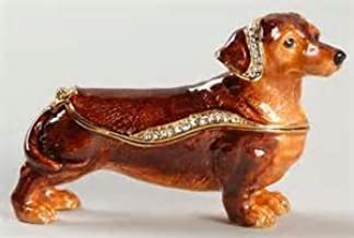 Bejeweled Collection Department 56 Dachshund Jeweled Box