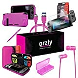 Orzly Ultimate Pack Accesorios para Nintendo Switch [Incluye: Protectores de Pantalla, Cable USB,...