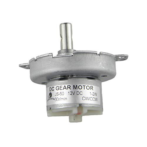 CHANCS Motor de engranaje de CC sin escobillas JS-50 12V DC 30RPM...