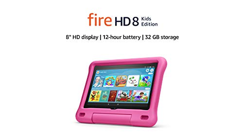 "Fire HD 8 Kids Edition tablet | 8"" HD display, 32 GB, Pink Kid-Proof Case"