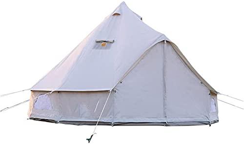 Carpas para Acampar Carpa piramidal Carpa de Lona con Cremalleras y Malla Transpirable para la Familia Carpa Domo para Acampar al Aire Libre