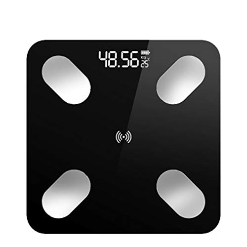 XIAOYH Smart Body Fat Scales, Digital Weight Scales Toughened Glass LCD Display, Body Fat Scale Weight Scales, for Fitness Tracking