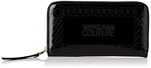 Versace Jeans Couture Damen Wallet Geldbörse, Schwarz (Nero), 2x10,5x19 centimeters