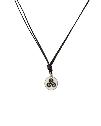 Black Choker Necklace with Stainless Steel Triskelion Charm Necklace on Double Black Strand for Women of all ages - Light, Elegant, Hypoallergenic Jewelry