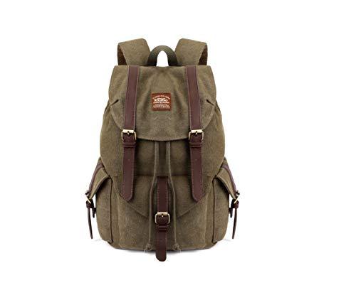 KAUKKO Herren Damen Schulrucksack Wanderrucksack Reisetasche Laptoprucksack Outdoor Sports Freizeit Daypacks, Army Green, Large