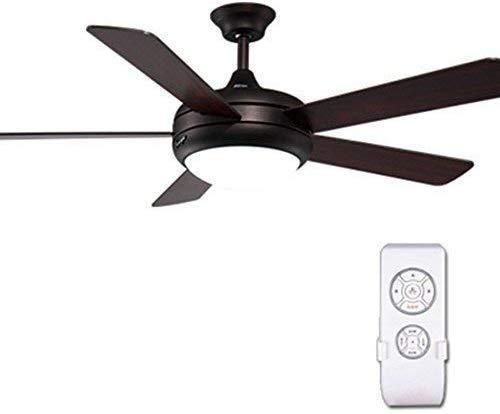 MJYY Luz, lámpara, lámpara de pared, lámpara de pared, lámpara de araña, ventilador de techo de 116 cm / 46 con 6 aspas de madera y kit de luces Ventilador de techo clásico reversible para uso en inv
