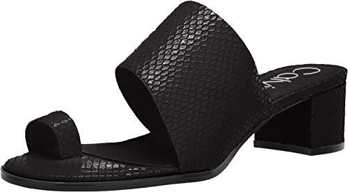 Calvin Klein Women's Dionne Heeled Sandal, Black Snake, 7 M M US