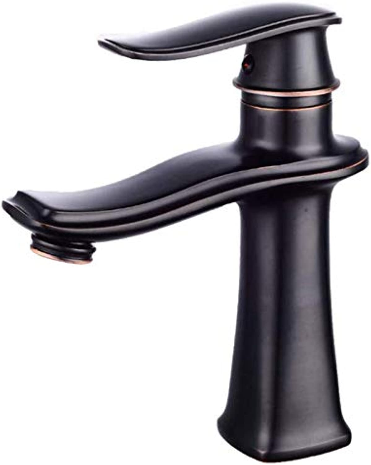 Exquisite Modern Bathroom Sink Black Faucet Single Handle Hot and Cold Faucet Creative Faucet