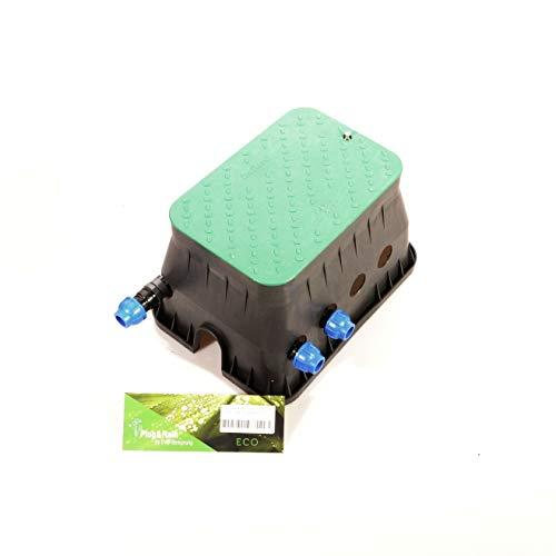 Ventilbox ECO - 2 x Hunter PGV-100-MM Magnetventil (2 Zonen), mit 25 mm (3/4