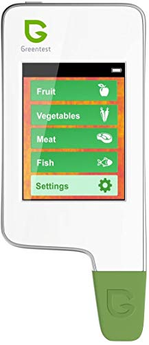 GREENTEST 2F / High Accuracy Read Digital Food Nitrate Tester, Meat Fish Fruit and Vegetable Nitrate Detection (White) Health Care