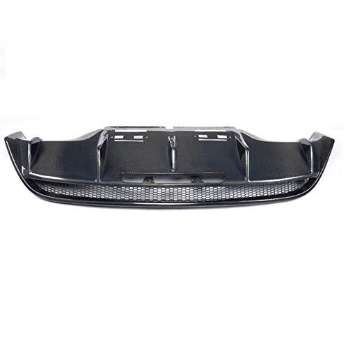 CROSYO Fibra di Carbonio 1pc Matt Gloss Auto respingente Posteriore di Scarico Lip diffusore for l'Audi R8 GT V8 V10 2 Porta 2010-2015 Nero FRP Sostituzione (Colore : Black FRP)