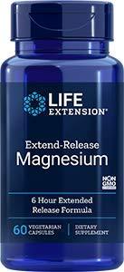 Life Extension, Extend Release Magnesium ( verzögerte Wirkstofffreisetzung ), 60 vegetarische Kapseln