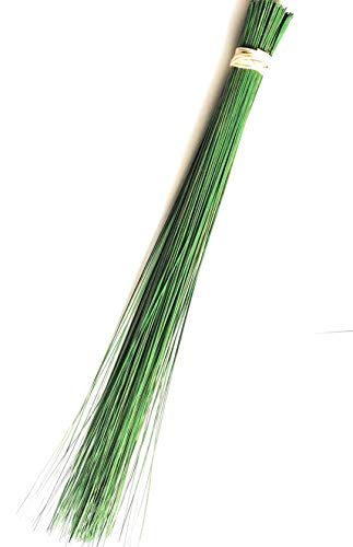 SN SKENNOVA 1 Piece of 32 inch Multi-Surface Sturdy Outdoor Authentic Coconut Leaf Broom Asian Heavy Duty Broom Thai Natural Coconut Leaf Broom