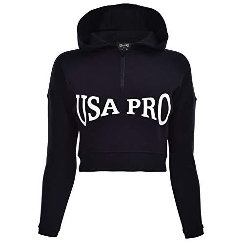 USA Pro Niñas Sudadera Top