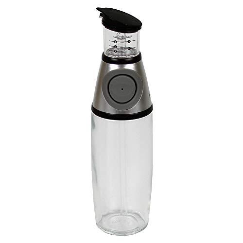 YOUNGE Oil Dispenser Bottle Press Measure Drip Free Spout Glass Safe for Kitchen Vinegar