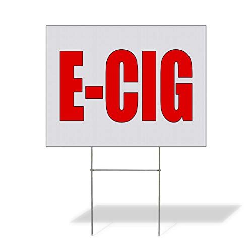 Plastic Weatherproof Yard Sign E Cig Style T General Business Brown Electronic Cigarette for Sale Sign Multiple Quantities Available 18inx12in One Side Print One Sign