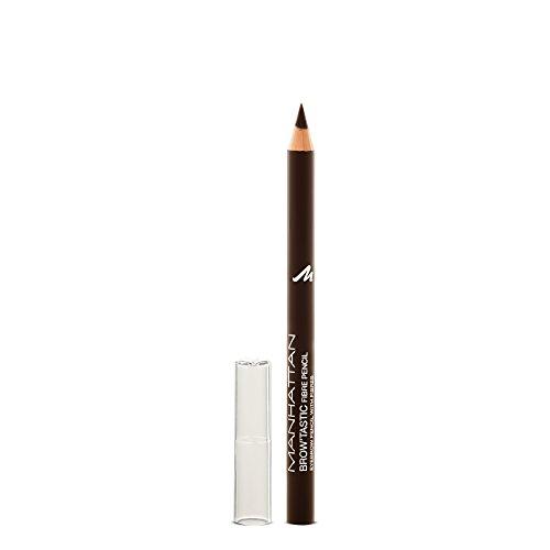Manhattan Brow'Tastic Augenbrauenstift – Dunkelbrauner Eyebrow Pencil mit auffüllenden Fasern für dichter wirkende, definierte Augenbrauen – Farbe Dark 003 – 1 x 1,1g