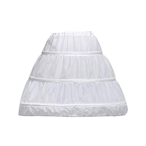 MIKI-Z Niños Princesa Falda Enagua Niñas Vestido de Novia con Faldas de aro Accesorios Cordón Forro de Cintura Ajustable