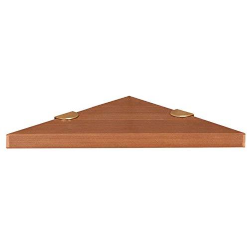 LIANYANG Regal an der Wand montiert schwimmende Rack Regale Badezimmer Rack einfache Dreieck Holz Eckzarge Schimmel Beweis Lagerung Badezimmer (Farbe:braun,Größe:40x28x28cm)