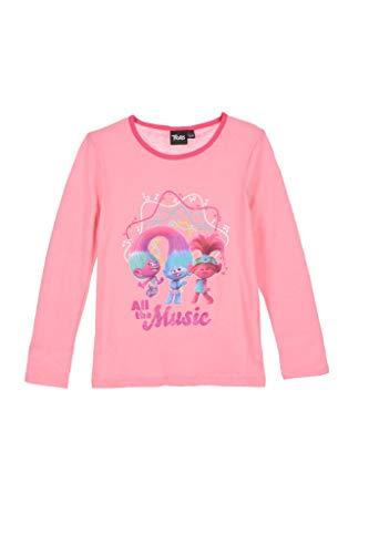 DreamWorks Trolls - Pijama para niña (4/5/6/8 años) rosa 110 cm(5 años)