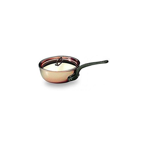 "Matfer Bourgeat Saucier Pan With Lid, 6.25"" Copper 373116"