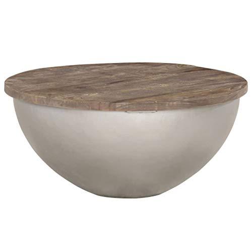 N/O Viel Spaß beim Einkaufen mit Schüsselförmiger Couchtisch Ø60 cm Mango Massivholz