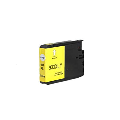 Tinta de Impresora 932xl 933 Cartucho de Tinta de reemplazo para HP932 933XL para HP OfficeJet 6100 6600 6700 7110 7610 7612 Impresora Productos de Oficina (Color : 1 Yellow)
