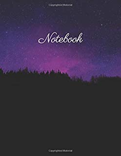 Notebook: Forrest Night, Dot Grid Journal/Notebook/Sketchbook/diary, 110 pages, 8.5x11 large print, Soft Cover, Glossy Fin...