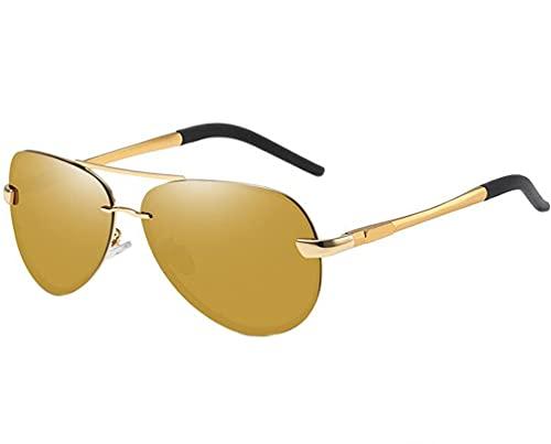 Gafas de sol para hombre y mujer, diseño de aviador, clásico, único premium polarizado al Mode MG marco de metal unisex protección UV 400