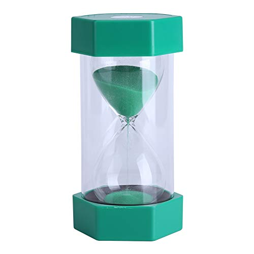 Reloj de arena, coloridos vasos de hora con arena, temporizadores de arena de 3/10/20/30/60 minutos para decoración de oficina en casa para niños(10 minutos Verde,)