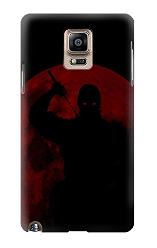 R2558 Ninja Shadow Red Moon Case Cover For Samsung Galaxy Note 4