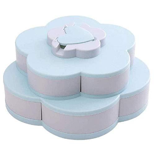 N/ Genießen Sie Life Bloom Snack Box, Blumenform Aufbewahrungsbox Amazing Bloom Rotating Snack Box (Blue)