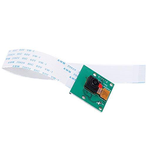 Módulo de cámara Raspberry Pie, Verde, HBV-RPI1508G V11 Raspberry PI 4th Generation 3B + 500W Pixel, módulo de cámara para Enviar Cable de 15 cm