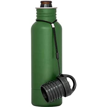 BottleKeeper - The Standard 2.0 Beer Bottle Insulator - Cap with Built in Beer Opener and Tether - Fits & Protects Standard 12oz Bottles - Insulated Beer Bottle Holder - Green