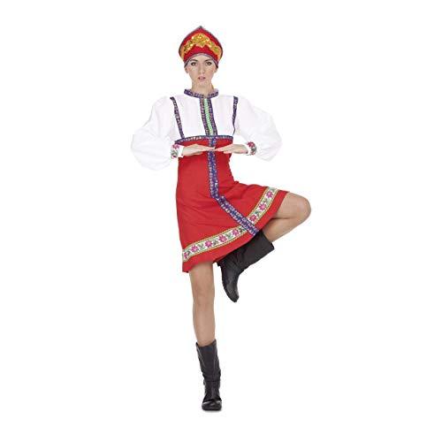 Generique - Russische Tänzerin-Damenkostüm für Fasching rot-blau-Weiss M / L