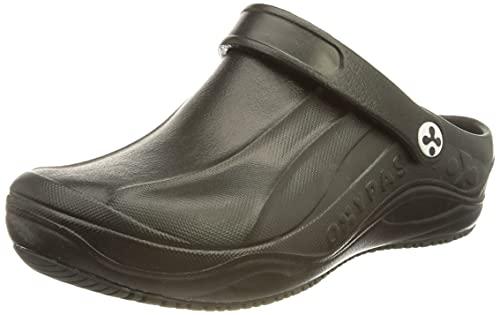Safety Jogger, Clogs für Damen, leichter Arbeitsschuh für Herren, ideal für Krankenhaus, Küche oder Garten, Größe 38 (EU), Oxypas Smooth, Schwarz